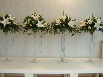 Tall Wedding Flower Vases on Tall Vase Arrangements  W018