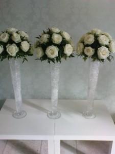 Tall Wedding Flower Vases on Tall Vase Wedding Table Decorations